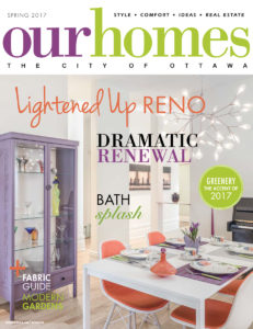 Sunter Homes, Featured Cover of Ottawa Homes Spring 2017, Renovation